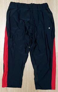 "ACCLAIM Ladies Three Quarter Black Red Running Fitness Leggings XL 28/30"" Waist"