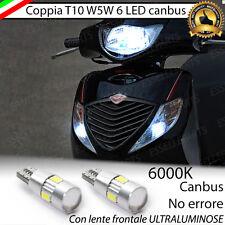 COPPIA LUCI DI POSIZIONE T10 W5W 6 LED HONDA SH 125 150 CANBUS NO ERROR 6000K