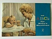 Vintage Heinz 1950s Baby Food Booklet ABC's for Baby's Mealtime Kids Book Child