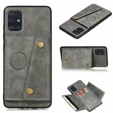 For Samsung A91 A81 A71 A51 A41 Luxury PU Leather Wallet Card Stand Cover Case