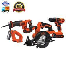 Black Decker BD4KITCDCRL 20V MAX Drill/Driver Circular and Reciprocating Saw Wor