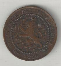 NETHERLANDS, 1896, CENT, BRONZE, KM#107.2,  VERY FINE