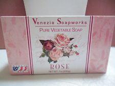 Lot of two 7 oz bars of  VENEZIA SOAPWORKS Rose Scented Soap