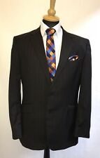 MS2071 ST GEORGE BY DUFFER MEN'S STRIPED BROWN WOOL BLAZER JACKET SIZE 44R