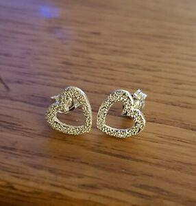 Sterling Silver Heart Stardust Earrings