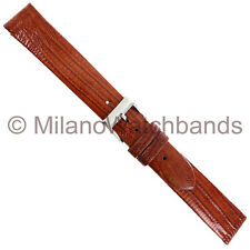 16mm Milano Tan Genuine Teju Lizard Flat Unstitched Watch Band 0040