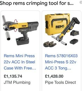REMS press tool/ Crimper, Paid £1356. Basically NEW!!