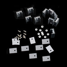 5 PCS TO-220 Silver Heatsink Heat Sink for Voltage Regulator or MOSFET NEW  CA