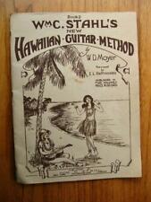 vintage WmC. Stahl's New Hawaiian Guitar Method book 2 songbook sheet music