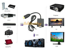 1080P HDMI Male to VGA Female Converter Adapter with 3.5mm Audio for TV XBOX 360