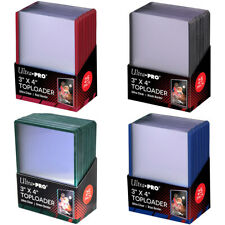 Ultra PRO Toploaders   Black, Green or Red Border   Regular 3 x 4   Rigid Sleeve