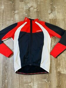 Specialized  Full Zip Long Sleeve Red Men's Cycling Jersey Jacket Sz XL  EUC