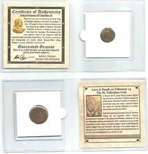 St. Valentine Bronze Coin of Claudius II, Mini Album With Story & Certificate
