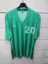 VINTAGE Maillot LE COQ SPORTIF vert porté n°20 ancien années 80 maglia shirt L