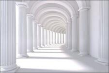 VLIES FOTOTAPETE XXL TAPETE 3D Effekt  Tunnel Säulen 8290