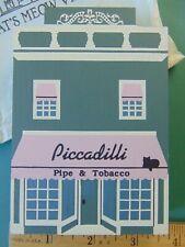 Fj Designs The Cat's Meow Village - 1990 Series Viii Piccadilli Pipe & Tobacco
