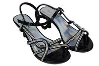 Girls New Evening Party Hot Dressy Kids Stunning Block Heel Black Formal Sandal