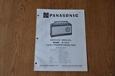 Panasonic R-1157  Radio Genuine Service Manual. R 1157