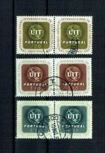 Portugal 1965 USED Pairs complete set #974-6 CTO Intern. Telecom. Union ITU-UIT