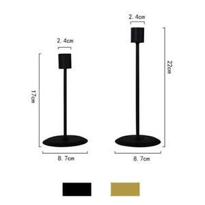 2Pcs Single-head Tall Candlestick Stand Wedding Party d Candlelight Decor d P5A4