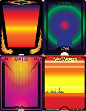 Vectrex Overlays (Fury) War of the Worlds / I, Cyborg / Sundance / Zantis