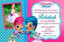 SHIMMER AND SHINE Birthday party invitations personalized custom