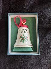 L👀K Lenox Christmas Tree Glass Bell Ornament