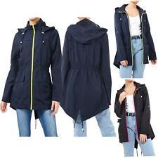 Ladies Festival Contrast Zip Mac Fishtail Parka Show proof Raincoat Jackets 8-24