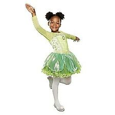DISNEY STORE Deluxe Tinker Bell Costume W/ TIGHTS S 5/6