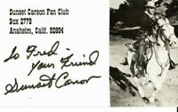 """""""B-Western Star"""" Sunset Carson Hand Signed 3X5 Picture Card Todd Mueller COA"""