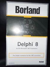NEW SEALED Borland Delphi 8.0 8 Enterprise Commercial BOX HDE1380WWCS181