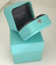 TIFFANY & CO PRESENTATION BLUE LEATHER ENGAGEMENT RING BOX & OUTER GIFT BOX