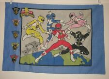 MIGHTY MORPHIN POWER RANGERS 1994 Vintage PILLOW CASE mmpr Saban Characters blue