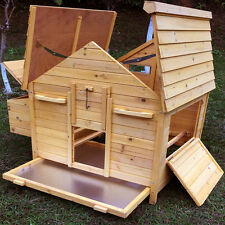 CHICKEN COOP RUN HEN HOUSE POULTRY ARK HOME NEST BOX COUP COOPS HUTCH 4-6 BIRDS