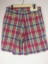 Polo Ralph Lauren Plaid Shorts Saltybeach Pink Striped Sz 32 New