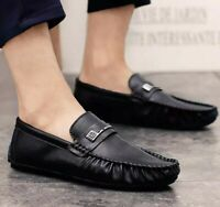 Winter Snow Mens Business Leisure Loafers Shoes Fur Lined Warm Non-slip Casual B