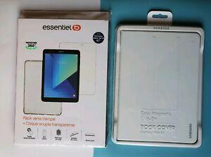 Samsung Book Cover + Film verre trempé + coque silicone pour Galaxy Tab S3 NEW