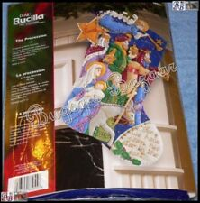 Bucilla THE PROCESSION Felt Christmas Stocking Kit -86055- Nativity,Magi,Family