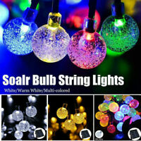 30/60 LED Solar Powered Garden Party Fairy String Ball Lights Outdoor Lamp Maxs