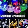 30/60 LED Solar Powered Garden Party Fairy String Ball Lights Outdoor Lamp Maxs