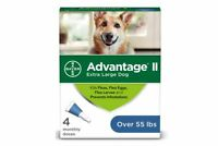 Advantage II 4-Dose for Extra Large Dogs Over 55 Pounds - Free Shipping - NEW