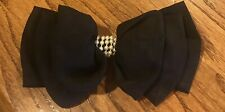 Black w White Beads Bow Hair Clip Barrette (Made In France)