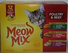 Meow Mix Tender Favorites Poultry & Beef Wet Cat Food (12 Cups, 2.75 oz) E5313