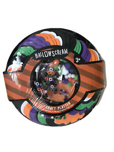 Halloween Craft Platter 84 Foam Shapes Foam Stickers Beads Sequins