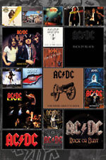 "AC/DC POSTER ""ALBUM COVERS"" ANGUS YOUNG, MALCOLM, BON SCOTT, BRIAN, CLIFF, PHIL"