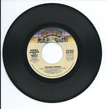 "1978 DONNA SUMMER ""HEAVEN KNOWS"" 45rpm 7"""