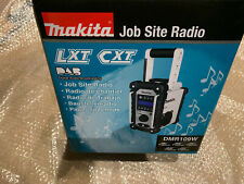 Makita DMR109W DAB LXT CXT 7.2v 18v White LI-ion Job Site Radio NEW