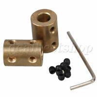 2pcs 8 x 8mm Rigid Copper Shaft Coupler Stepper Servo DC Motor CNC Coupling
