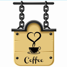 Coffee Cups Cafe Tea Wall Stickers Art Vinyl Decal For Kitchen Home 12x20cm URE