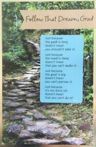 """""""You Can Do Anything You Set Your Mind To"""" AG Classic GRADUATION CARD $5 Retail"""